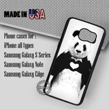 Panda Heart Love- Samsung Galaxy S7 S6 S5 Note 5 Cases & Covers