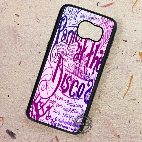 Panic At The Disco Lyrics - Samsung Galaxy S7 S6 S5 Note 7 Cases & Covers