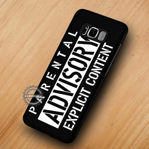 Parental Advisory Explicit Content Parody - Samsung Galaxy S8 Case