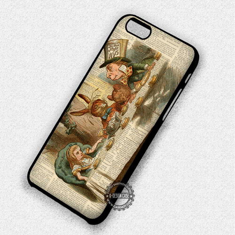 Alice Wonderland Mad Hatter Tea Party- iPhone 7 6 5 SE Cases & Covers