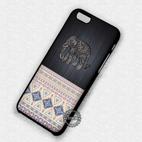 Patterned Aztec Elephant - iPhone 7 6S 5S SE Cases & Covers