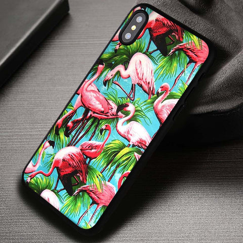 Pink Flamingo Hawaii Bahamas - iPhone X Case