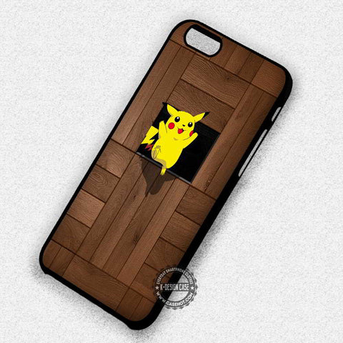 Pokemon Pikachu Anime Wood Stripe - iPhone 7+ 6S 5 SE Cases & Covers