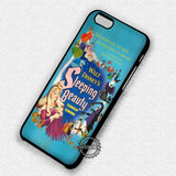 Poster Princess Retro Sleeping Beauty - iPhone 7 6s 5c 4s SE Cases & Covers