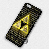 Power Wisdom Courage Legend of Zelda - iPhone 7 6 Plus 5c 5s SE Cases & Covers