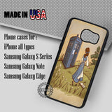 Princess Belle and Tardis - Samsung Galaxy S7 S6 S5 Note 5 Cases & Covers