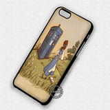 Princess Belle and Tardis - iPhone 7 6 Plus 5c 5s SE Cases & Covers