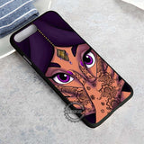 Princess Face Purple Beautifull - iPhone 8+ Case