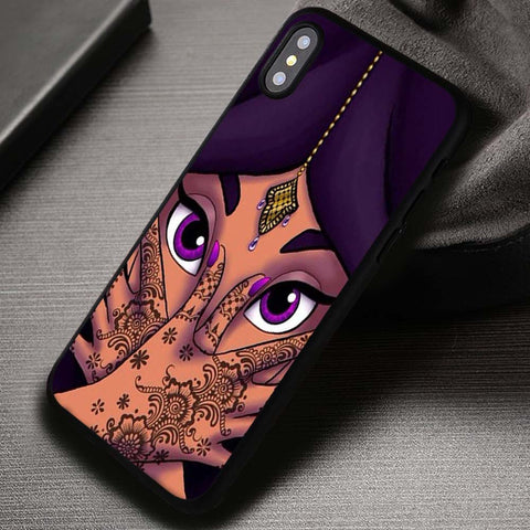 Princess Face Purple Beautifull - iPhone X Case