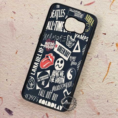 Punk Black Band Collage - Samsung Galaxy S7 S6 S5 Note 7 Cases & Covers