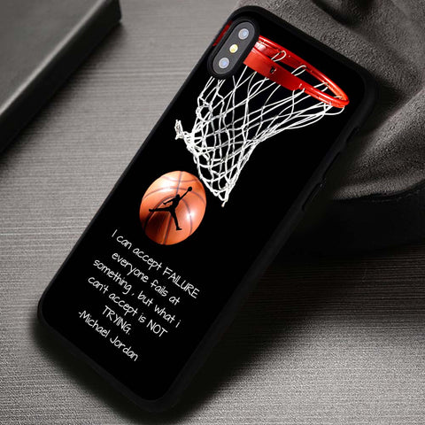 Quotes of Sport Player Michael Jordan Basketball - iPhone X Case