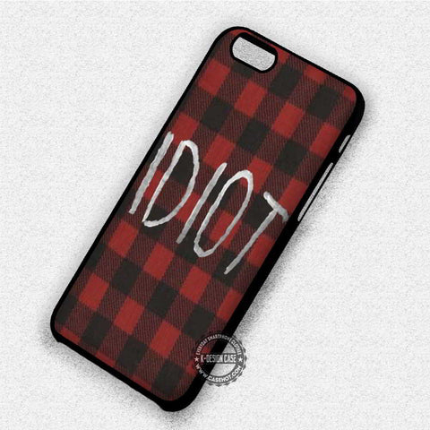 Red Plaid Idiot - iPhone 8+ 7 6s SE Cases & Covers