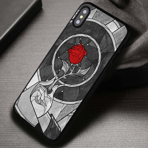 Red Rose Image Beauty And The Beast - iPhone X Case