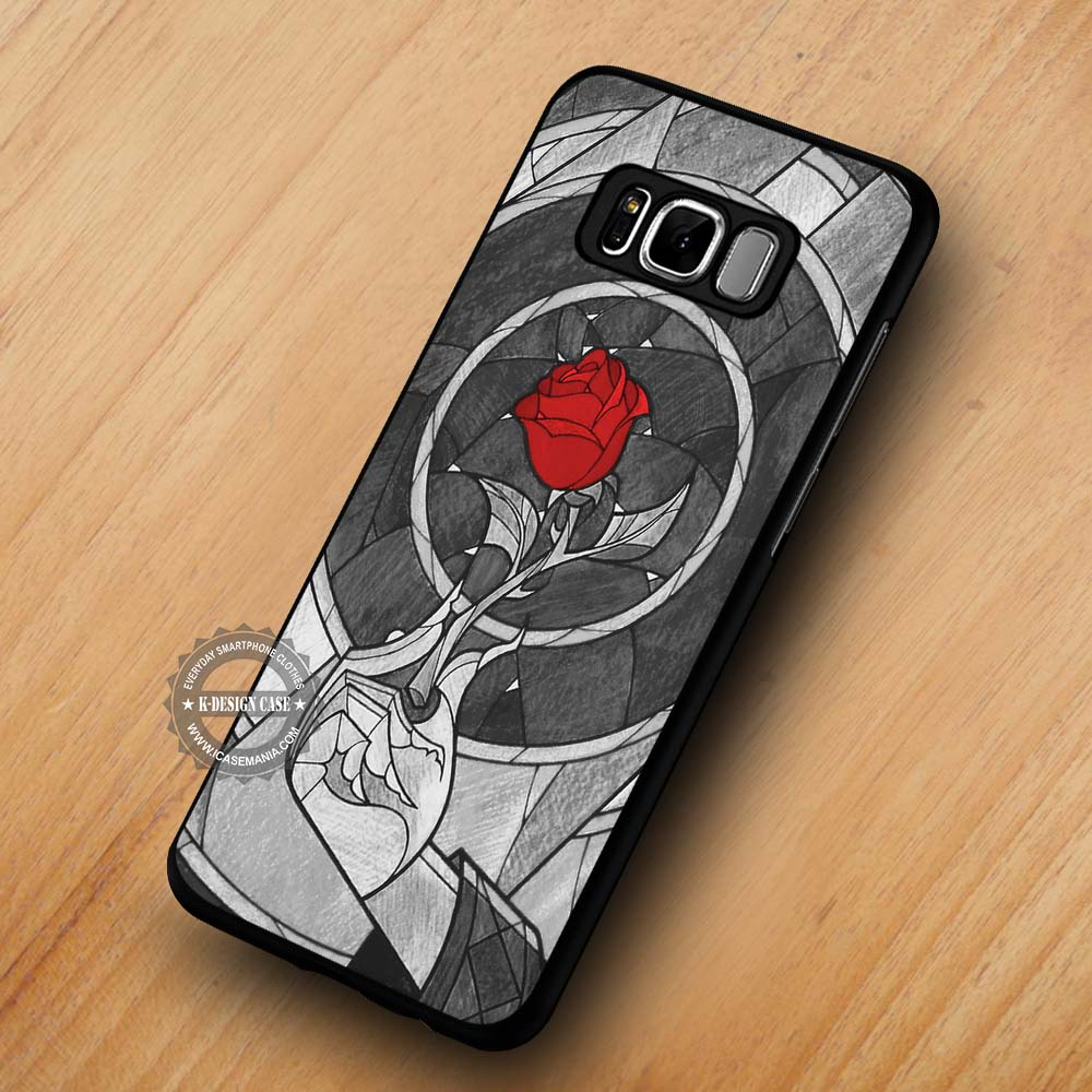 uk availability b2778 23a39 Red Rose Image Beauty and the Beast - Samsung Galaxy S8 S7 S6 Note 8 Cases  & Covers #SamsungS8
