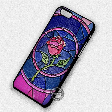 Rose Beauty and The Beast Stained Glass - iPhone 8+ 7 6s SE Cases & Covers