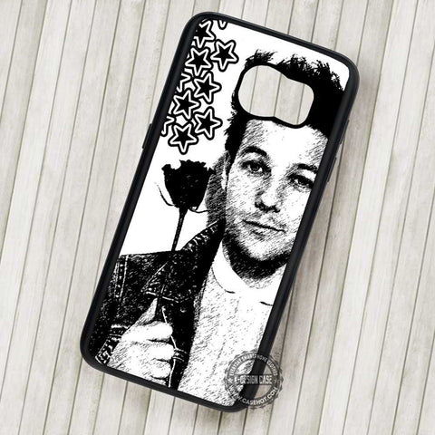 Louis Tomlinson Black and White One Direction - Samsung Galaxy S7 S6 S5 Note 7 Cases & Covers