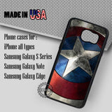 Shield Captain America - Samsung Galaxy S7 S6 S5 Note 5 Cases & Covers