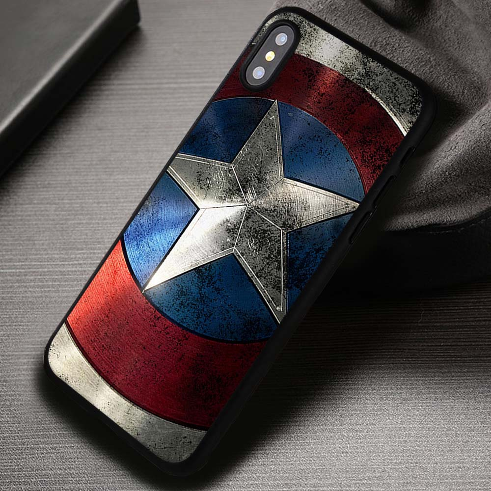 purchase cheap 1958e 3390f Shield Captain America The Avengers - iPhone X 8+ 7 6s SE Cases & Covers  #iPhoneX