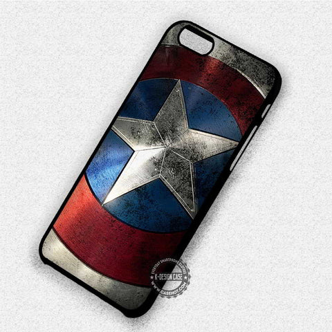 Shield Captain America - iPhone X 8+ 7 6s SE Cases & Covers