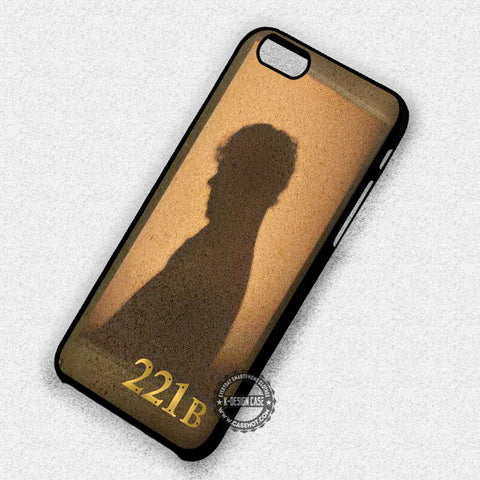 221b Street Silhouette Sherlock Holmes - iPhone 7 6 5 SE Cases & Covers