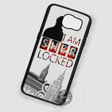 Silhouette Of That Man I am Sherlocked  - Samsung Galaxy S7 S6 S5 Note 7 Cases & Covers
