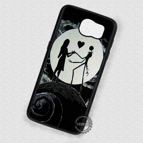 Silhouette's Couple Image Jack and Sally - Samsung Galaxy S7 S6 S5 Note 5 Cases & Covers