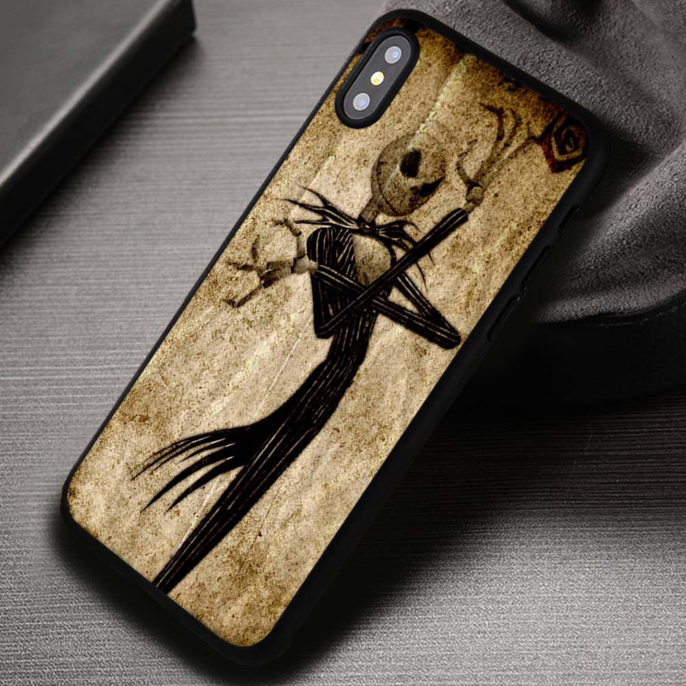 buy popular 5349d 7c1dc Skull And Bone Jack Skellington The Nightmare Before Christmas - iPhone X  8+ 7 6s SE Cases & Covers #iPhoneX