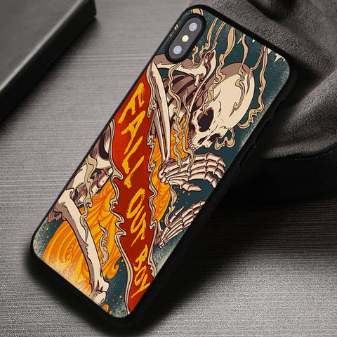 Skull Band Poster FOB Fall Out Boy - iPhone X Case