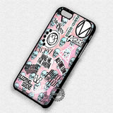 Skull in Pink Punk - iPhone X 8+ 7 6s SE Cases & Covers