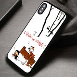 Snowy Day Gift Winter Calvin And Hobbes - iPhone X Case