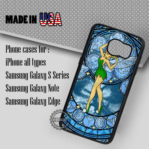Stained Glass Tinker Bell - Samsung Galaxy S7 S6 S5 Note 5 Cases & Covers