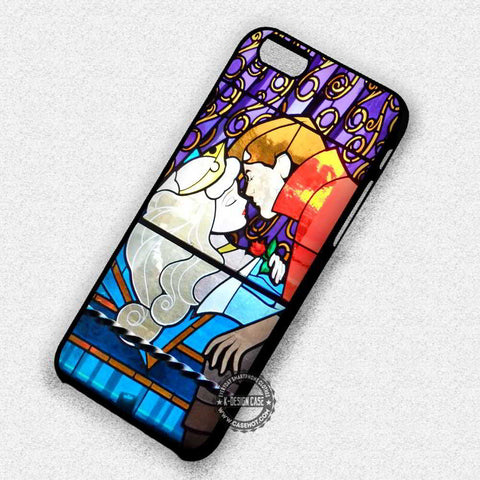 Stained Glass Art Kissing Sleeping Beauty - iPhone 8+ 7 6s SE Cases & Covers