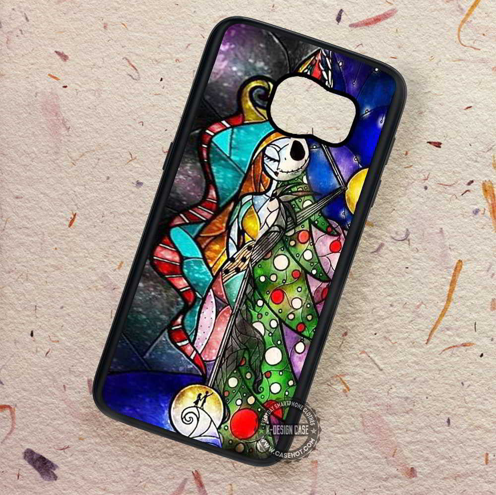 Stained Glass Couple Nightmare Before Christmas - Samsung Galaxy S7 ...
