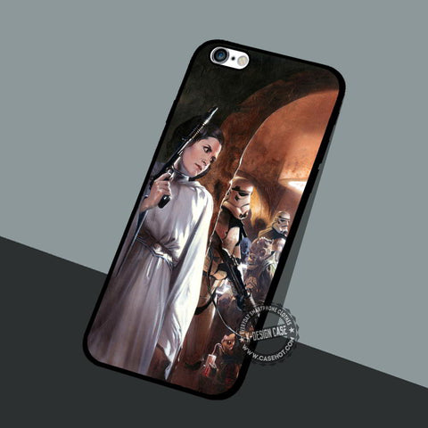 Leia Organa Battles - iPhone 7 6 5 SE Cases & Covers