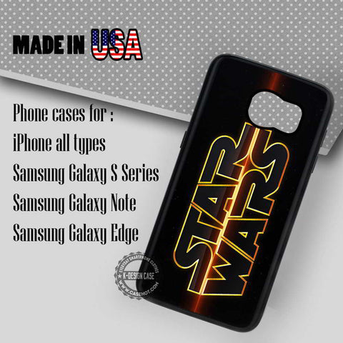 Star Wars Logo Shining - Samsung Galaxy S7 S6 S5 Note 5 Cases & Covers