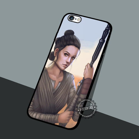 Star Wars Rey Art - iPhone 7 6 5 SE Cases & Covers