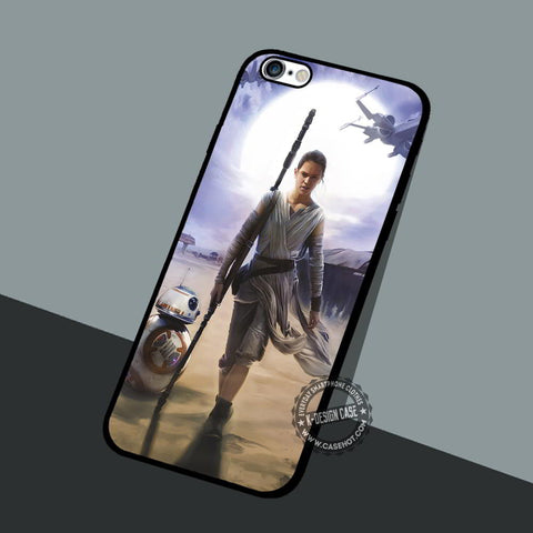 Star Wars Rey Vintage - iPhone 7 6 5 SE Cases & Covers