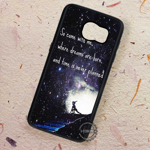 Starry Night Never Grow Up Story Peterpan - Samsung Galaxy S7 S6 S5 Note 7 Cases & Covers