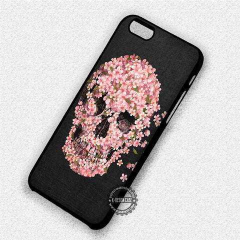 Sugar Flowers Skull - iPhone 7 6 Plus 5c 5s SE Cases & Covers