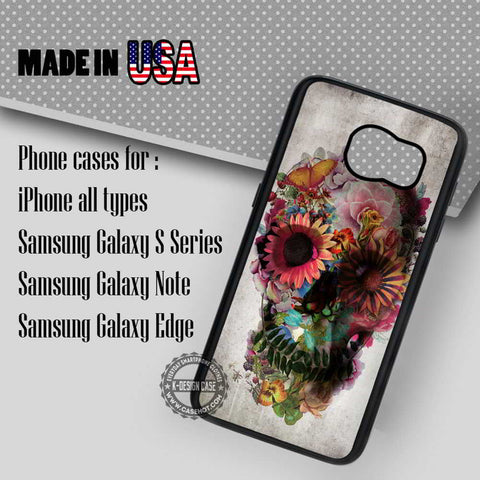 Sugar Skull Vintage - Samsung Galaxy S7 S6 S5 Note 5 Cases & Covers