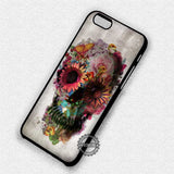 Flower Skull Vintage - iPhone 7 6 Plus 5c 5s SE Cases & Covers