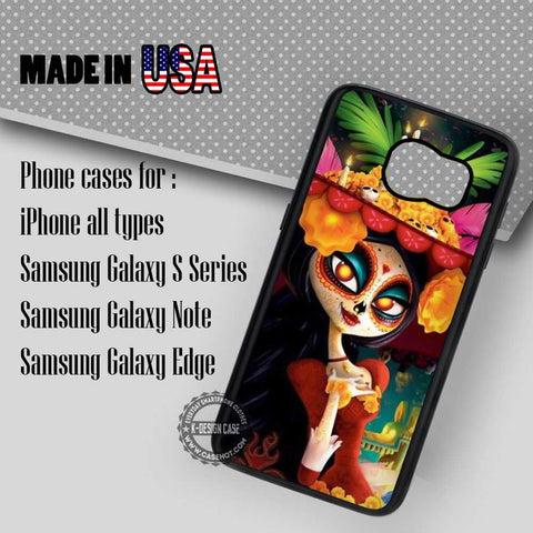 Sugar Skull Mask Girl - Samsung Galaxy S7 S6 S5 Note 5 Cases & Covers