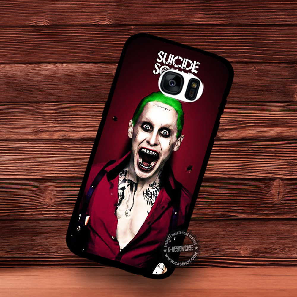 Suicide Squad Wallpaper Joker Samsung Galaxy S7 S6 S5 Note 7 Cases