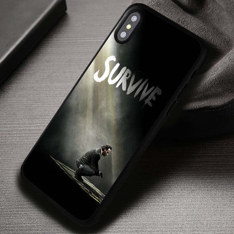 Survive Poster The Walking Dead - iPhone X Case