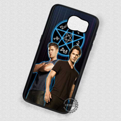 Symbol and Two Men Supernatural - Samsung Galaxy S6 S5 S4 Note 5 Cases & Covers