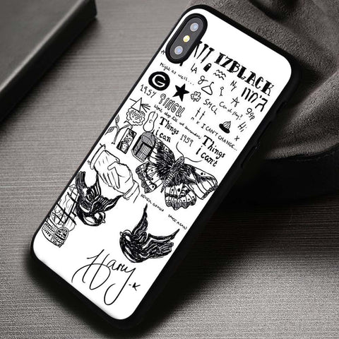 Tattoo And Signature of Styles Harry Styles - iPhone X Case