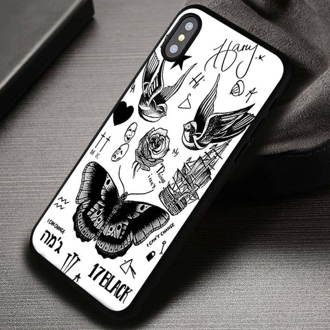 Tattoo Art Harry Styles One Direction - iPhone X Case