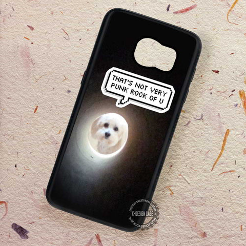 Cute Dog Quote White Art - Samsung Galaxy S7 S6 S5 Note 7 Cases & Covers