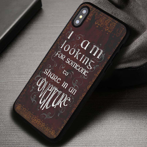 The Lord of The Rings Quote Adventure Vintage - iPhone X Case