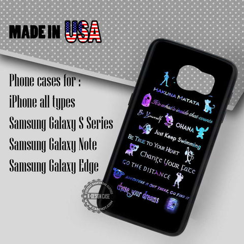 The All Quotes Disney - Samsung Galaxy S7 S6 S5 Note 5 Cases & Covers